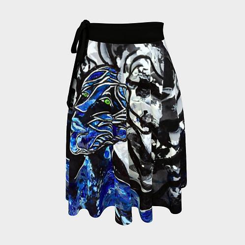 Big Blue Freedoms Wrap Skirt