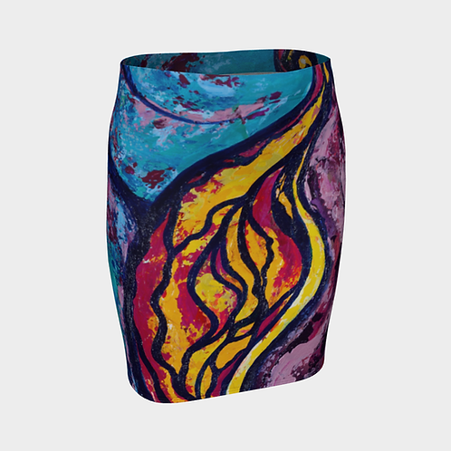 Reveal Your Secrets Fitted Skirt