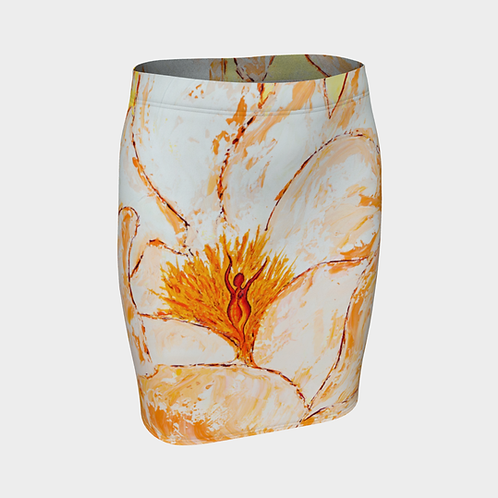 Experiential Bloom Fitted Skirt