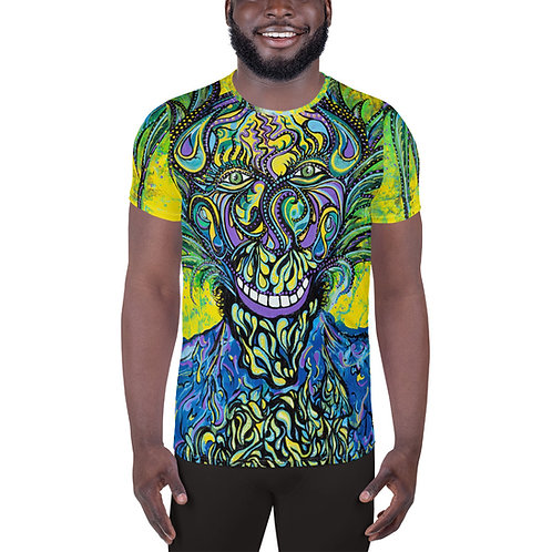 Swirling Sherpa Athletic T-shirt