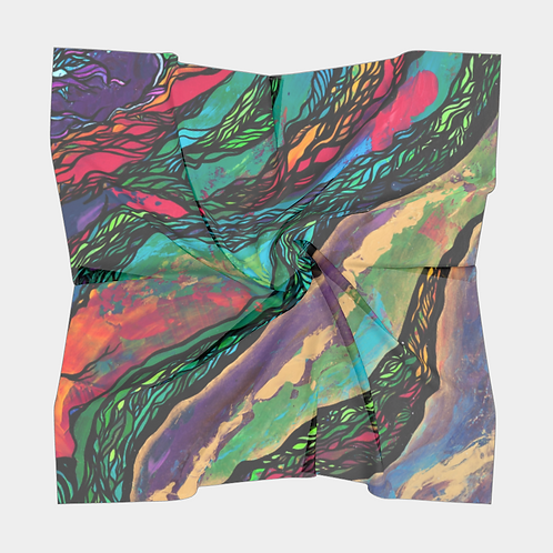 Abstract Armadillo Silk Scarf