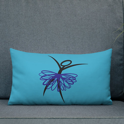 Ridiculator Double Sided Contrast Pillow (Coral w/ blue, Blue w/purple)