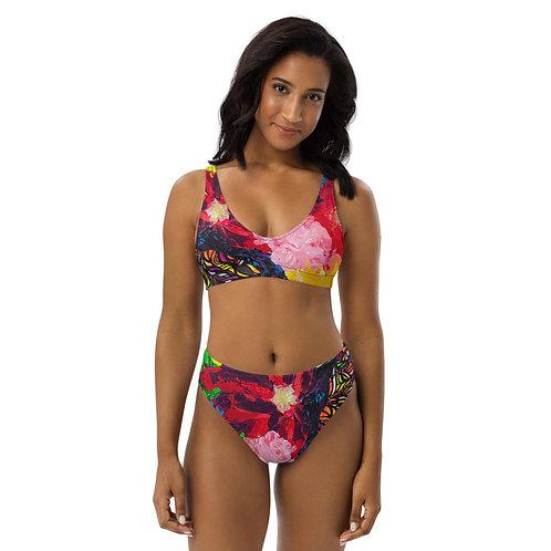 Profunda Florals high-waisted bikini