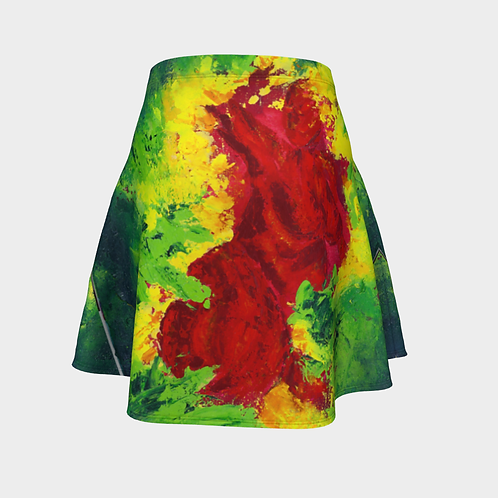 Infrared Art on Purpose Flared Skirt