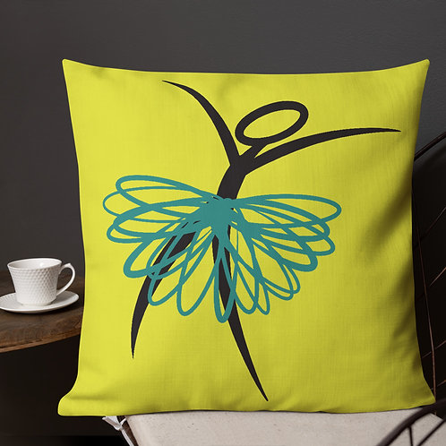 Ridiculator Double Sided Contrast Pillow (Teal and Chartreuse)