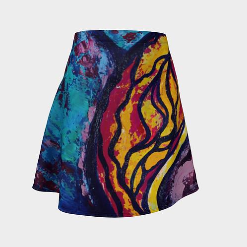 Reveal Your Secrets Flared Skirt