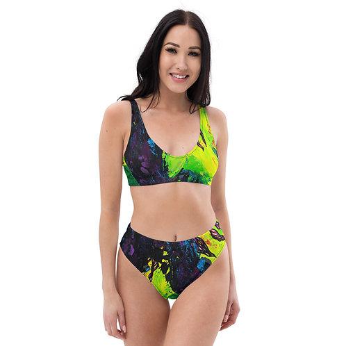 Profunda Purples high-waisted bikini