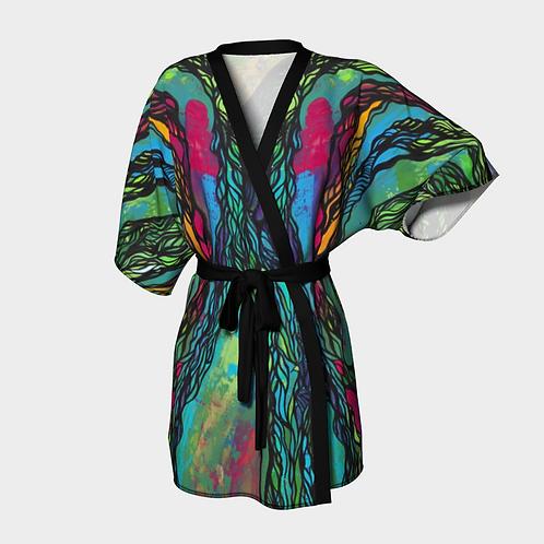 Colorful Boundaries Kimono Robe