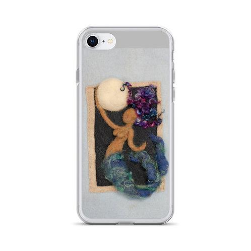 Art on Purpose Felted Moon Maid iPhone Case