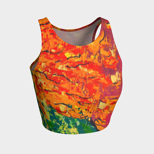 Core Abstract Crop Top