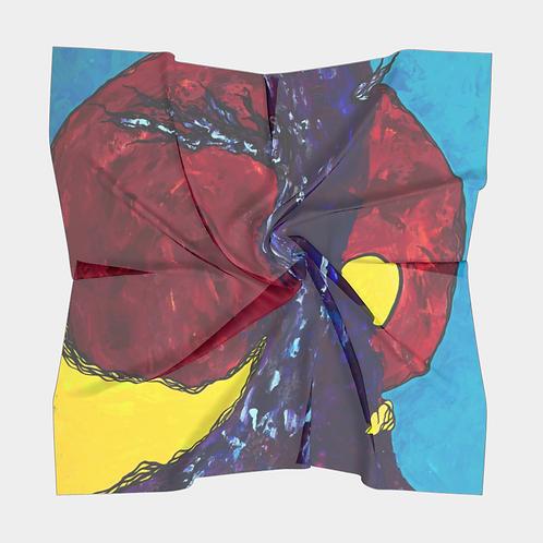 By Sprite Light Square Silk Scarf