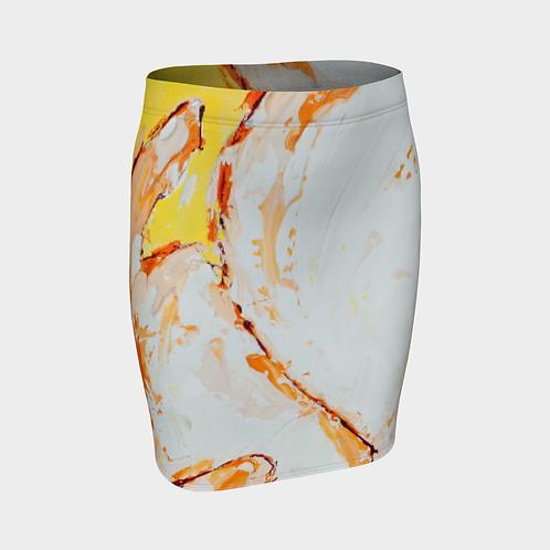 Full Bloom Fitted Skirt