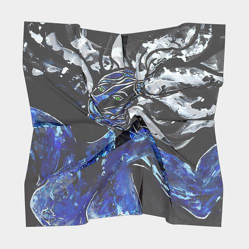 Big Blue Freedoms Square Silk Scarf