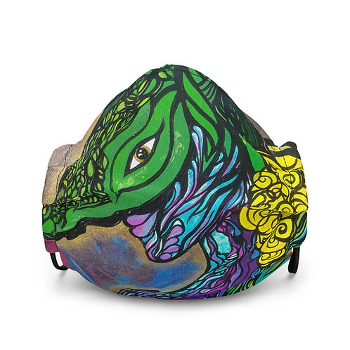 Armadillo Woman ear loop art mask