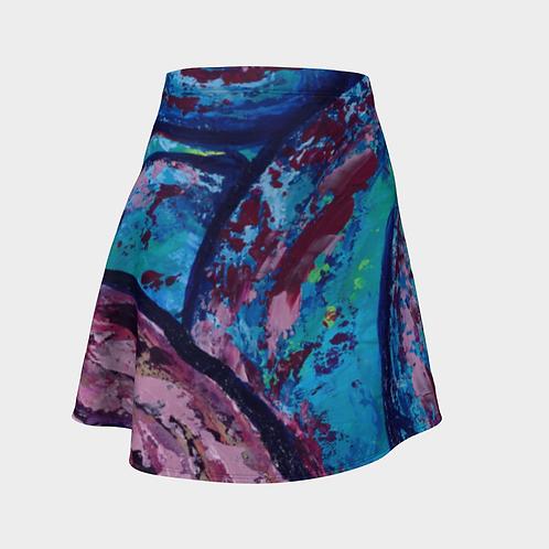 Reveal Your Depth Flared Skirt