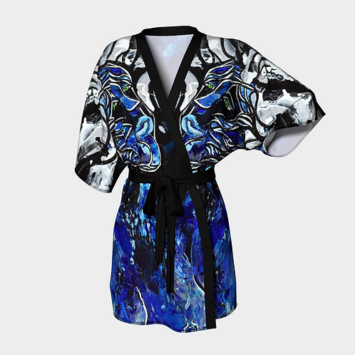 Big Blue Freedoms Kimono Robe