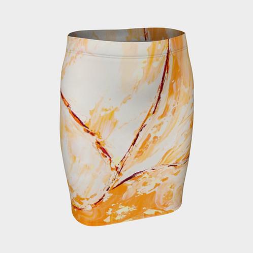 Orange Blossom Fitted Skirt