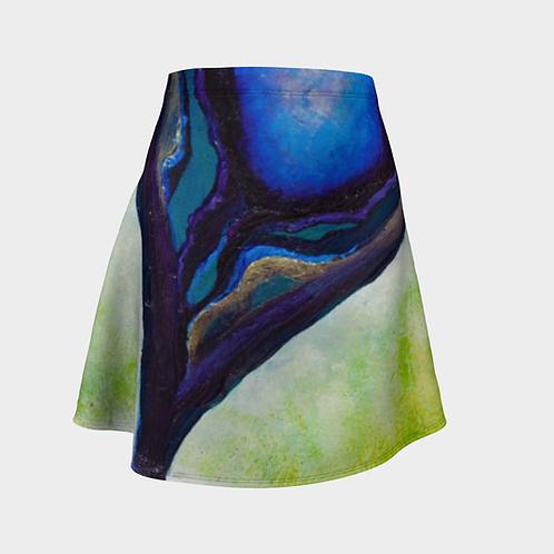 Well Slanted Flared Skirt