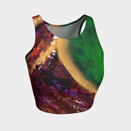 Universal Abstract Crop Top