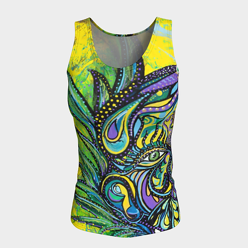 Swirling Sherpa Fitted Tank