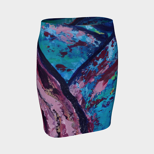 Reveal Your Depth Fitted Skirt