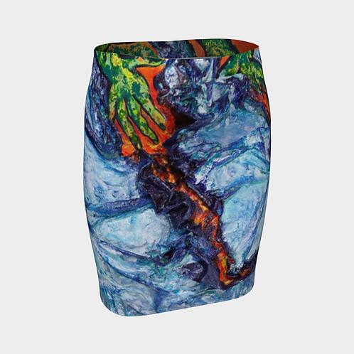 Molten Fingertips Fitted Skirt