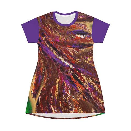 Universal Truth T-Shirt Dress Purple Sleeve
