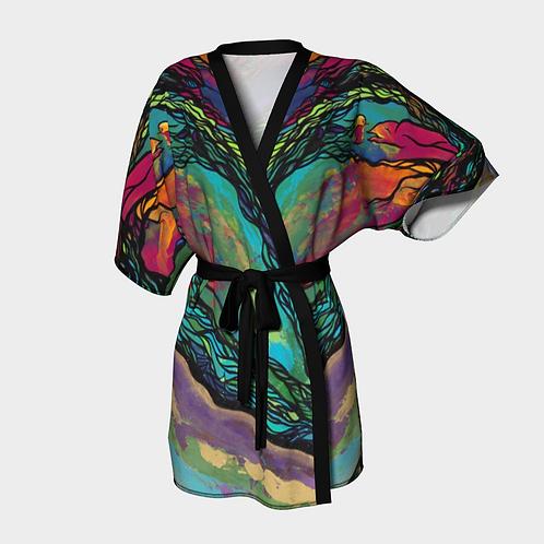 Surprise Birdies Kimono Robe