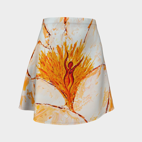 Experiential Bloom Flared Skirt
