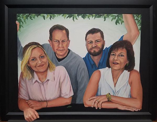Portrait of the Folsam/Glassman family, painting
