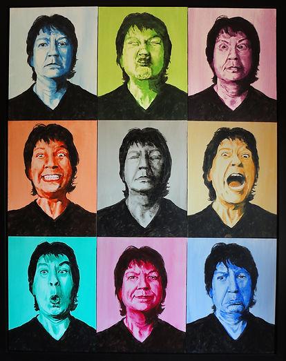 Unusual self portrait with multiple images, art