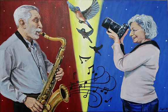 Portrait of Marty and Nan Fogel