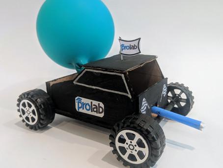 Newton's Balloon Car