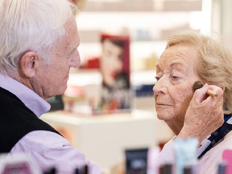 84 Year Old Husband Does His Wife's Makeup