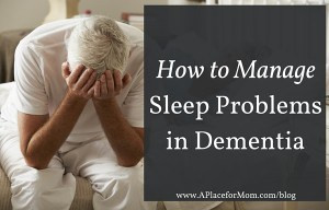 sleep problems dementia