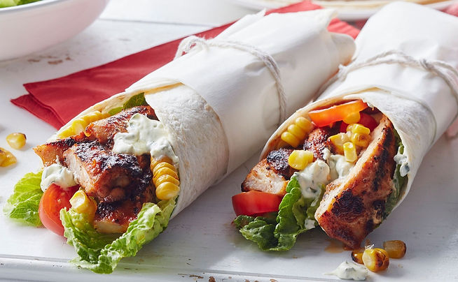 grilled-chicken-corn-wraps-with-lime-sou