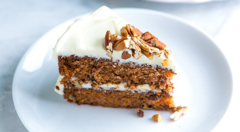 carrot cake pecan and wall nut none vegan