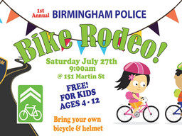 Birmingham police to hold first bike rodeo