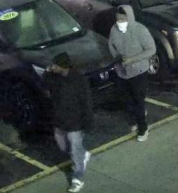 Two men break into cars at dealership