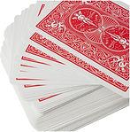 Baraja roja de cartas para jugar poker marca Bicycle Standard.jpg