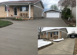 driveway replacement before and after