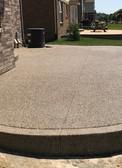 photo exposed aggregate concrete patio
