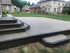 Exposed aggregate patio photo