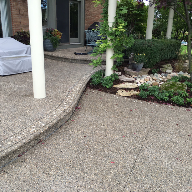 exposed aggregate concrete patio photos 2015