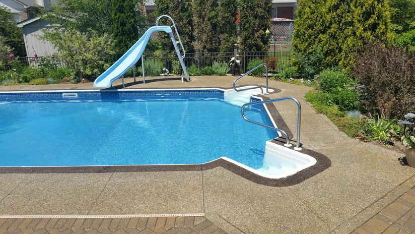 exposed aggregate concrete pool deck photos