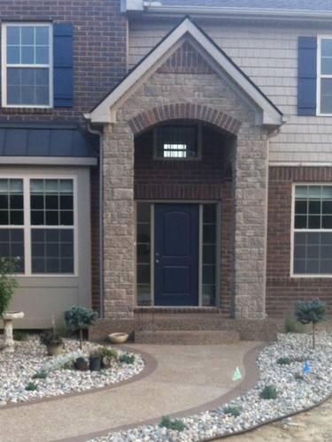 exposed aggregate front entrance photo