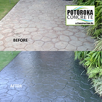 Stamped Concrete Sealing Before and Afte