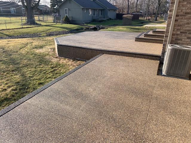 exposed aggregate concrete patio photos