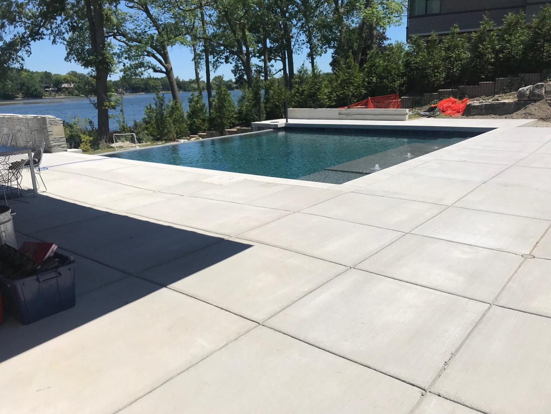 Pool deck photos ideas fiberglass pool