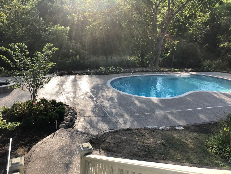 aggregate pool decking new gunite pool i